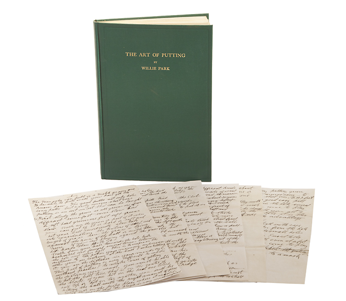 "The original manuscript for Park's 1920 book, ""The Art of Putting""."