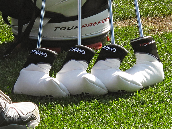 Paul Goydos had TaylorMade reps make his four Ghost putters.