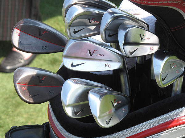 Paul Casey uses Nike VR Pro Combo irons (3-6) and VR Pro Blades (7-PW).