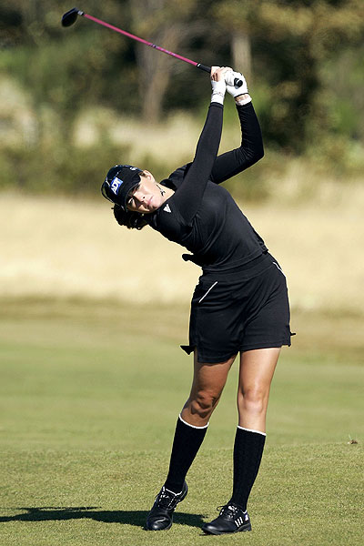 Creamer returned to Great Britian in 2006 to compete in the Ladies British Open at Royal Lytham. She also returned to her high-socks look en route to finishing tied for 16th.