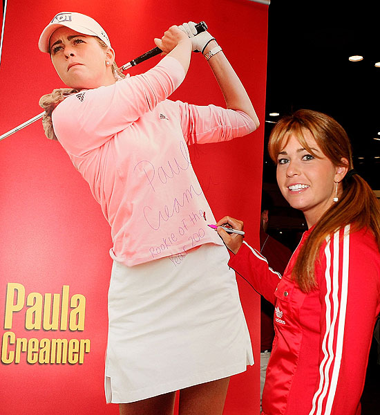 Coming off her Rookie of the Year season, Creamer was a celebrity at the 2006 PGA Merchandise Show in Orlando.