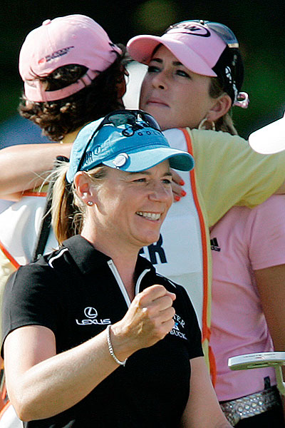 Although her week was filled with smiles, after losing in a playoff to Sorenstam, Creamer was very disappointed.