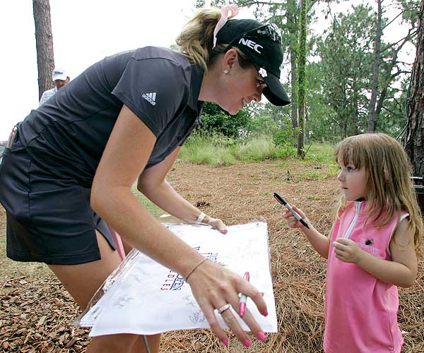 Although she finished tied for 16th, Creamer was a crowd favorite at Pine Needles during the 2007 U.S. Womens Open.