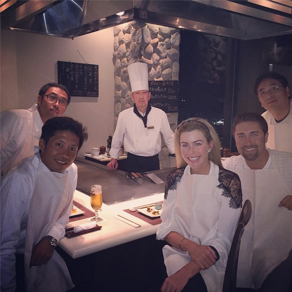 @paulacreamer1 Last dinner in Japan with my amazing Team IMG Japan!!!!! Without them I would be lost! Thanks once again for all your help and most importantly friendship!