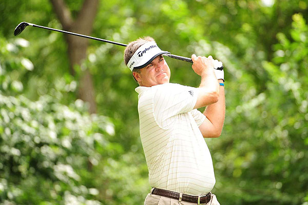 Kenny Perry will start Sunday's play in a tie for 32nd after going even par through 13 holes of his third round.