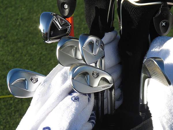 of Sweden will be playing in the first match on Wednesday morning against Australia's Robert Allenby. Hansen carries TaylorMade R9 TP 3- and 4-irons, which help him hit long shots with a higher trajectory than his RAC MB irons.
