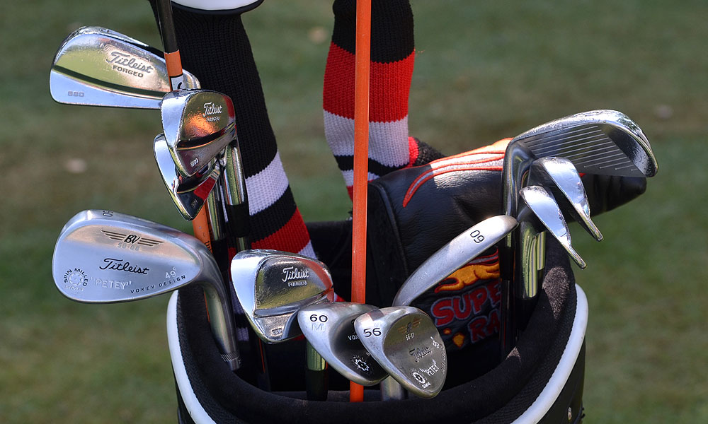 Peter Uihlein plays a set of Titleist Forged 680 irons and Vokey Design SM4 wedges.