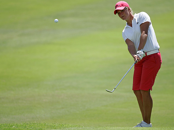 Suzann Pettersen of Norway shot 72 Thursday and ended the day in a tie for 62nd.