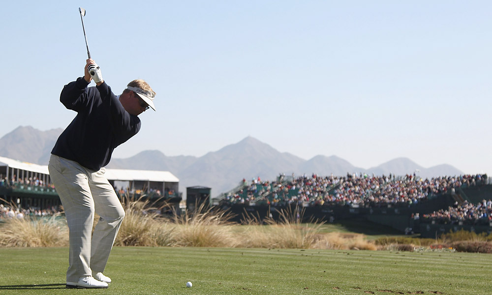 Carl Pettersson shot a one-under 70. He made par at 16 (pictured).