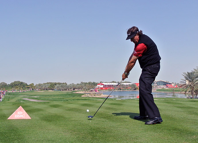 """I just love the fact I am in contention and have an opportunity in my first tournament of the year here in Abu Dhabi,"" Mickelson said. ""The biggest thing for me is that each day as the tournament has progressed I have felt a lot sharper and sharper."""