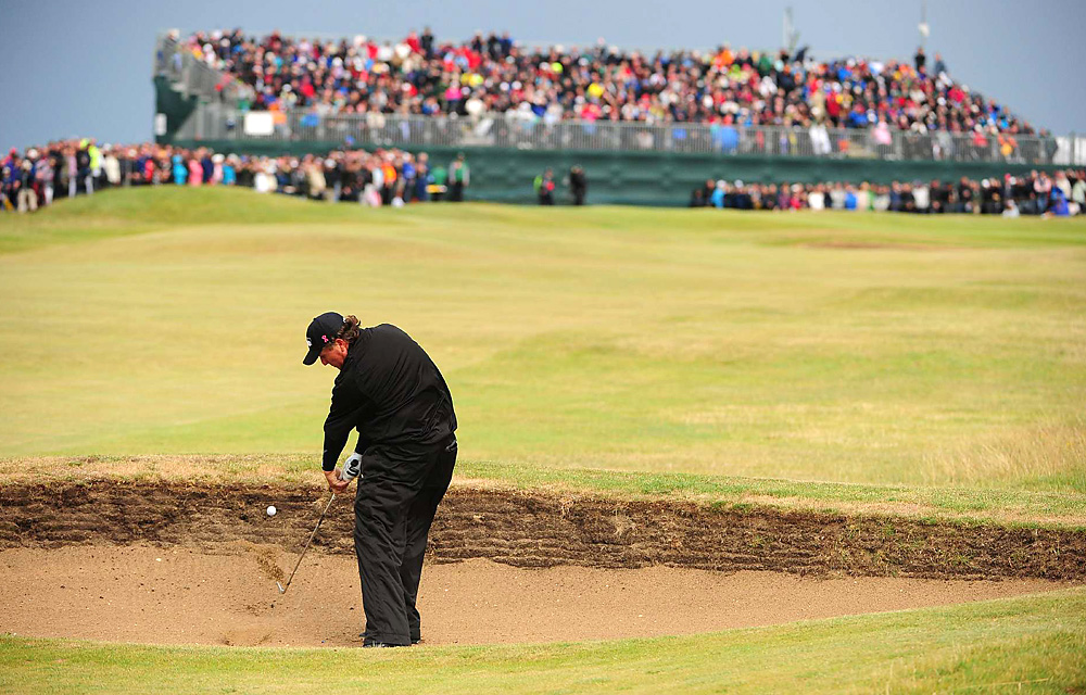 Phil Mickelson                     Mickelson did win one event in 2011 –- the Shell Houston Open. But overall, his 2011 was a disappointment, as he floundered on Sunday at Royal St. George's while in contention to win his first career British Open (pictured), and he failed to threaten in the season's other majors. By season's end, he slipped from No. 4 to 14 in the World Ranking.