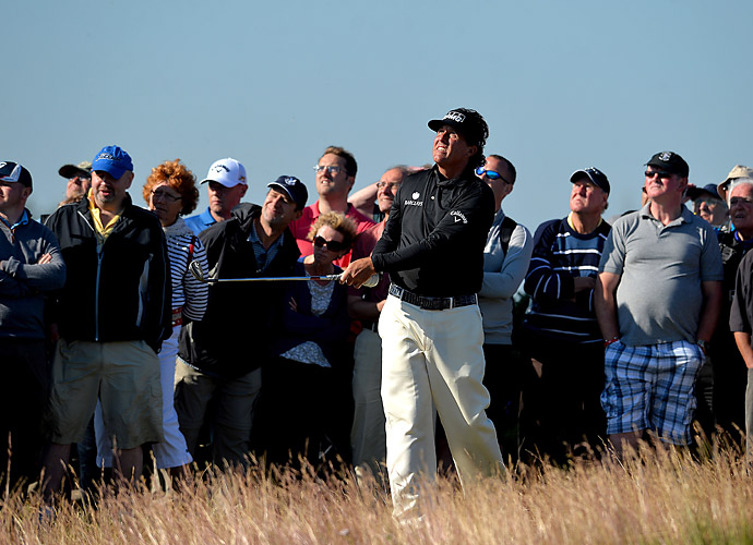 Phil Mickelson also failed to back up his solid first round on Friday.