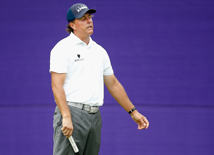 In his final round before the U.S. Open, Phil Mickelson faded on the back nine and turned in his worst round of the tournament, an even par 72 that dropped him back to T11.