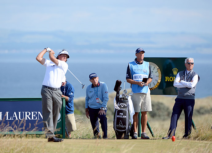 Feeling confident from his Scottish Open win just days before, Mickelson chose to forgo using a driver at the British Open at Muirfield, instead opting for a 3-wood and five wedges. The odd move would end up paying off.