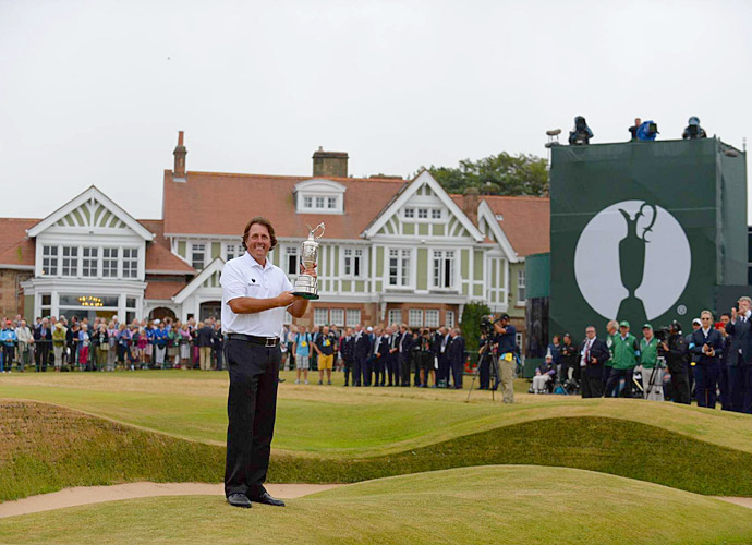 Mickelson started slow at the British Open at Muirfield, but by the end of the third round he was T9, within five shots of leader Lee Westwood. What followed was one of the greatest final rounds in major history. Mickelson fired a thrilling 66 to come from behind and win the tournament that no one thought he would ever win. It was his fifth major title.
