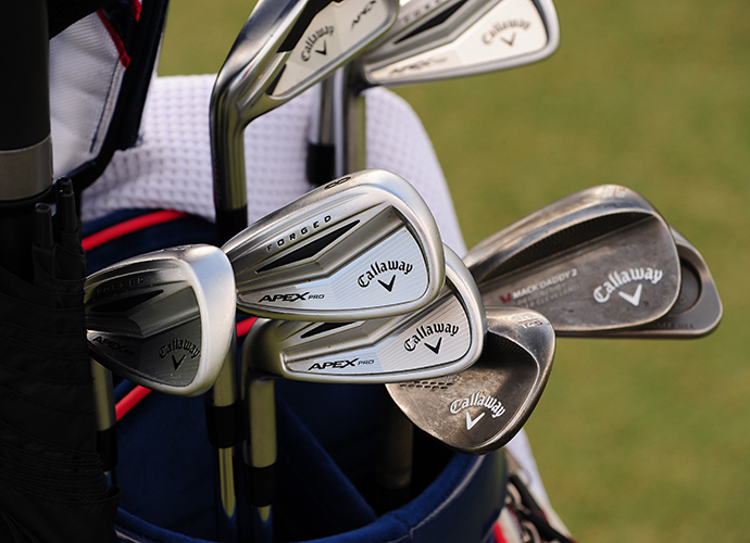 Phil Mickelson is still looking to get into form this season with his forged Calloway Apex Pros.Phil Mickelson is still looking to get into form this season with his forged Callaway Apex Pros.