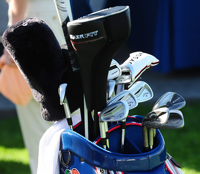 Phil Mickelson has his new Callaway Big Bertha Alpha driver in his bag this week at Torrey Pines.