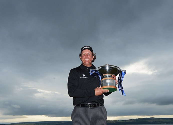 Few observers thought Mickelson could recover from the devastating loss at Merion, but Phil was saving his best performances for the second half of the season. The week before the British Open, he traveled to Scotland a week prior and won the European Tour's Scottish Open, his first win on a links course.