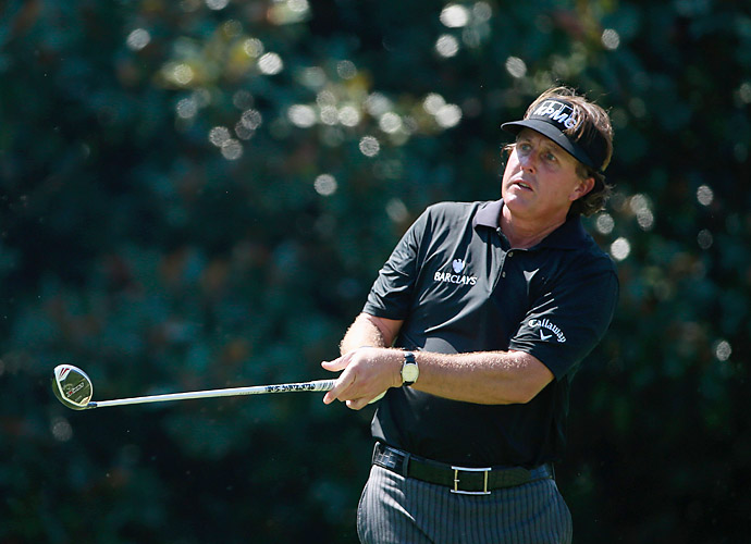 Phil Mickelson also had a rough day, finishing at one over.