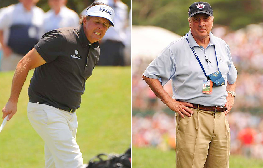 "Phil Mickelson vs. Rees Jones                     Leading up to the PGA Championship, Mickelson said of the architect who redesigned Atlanta Athletic Club: ""Modern architecture, there are some great ones, but the guy that redid this one — you know, it's great for the championship, but it's not great for the membership."""