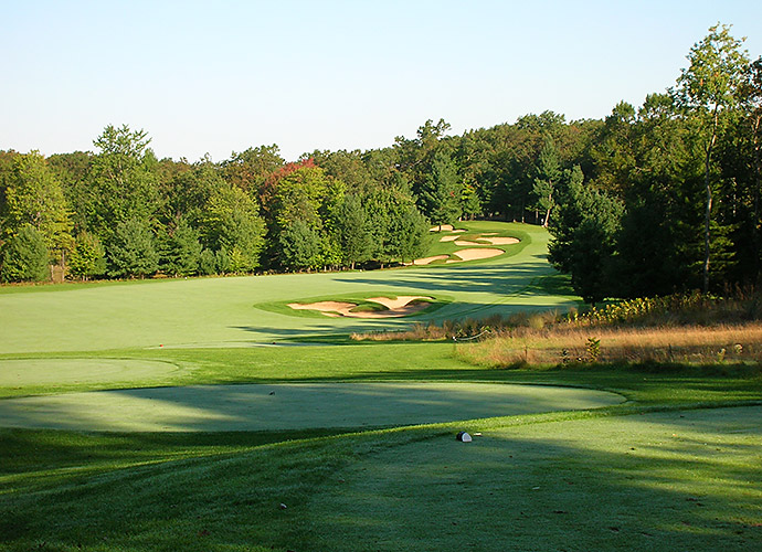 Pilgrim's Run Golf Club in Pierson, Mich.: Make the pilgrimage 30 minutes north of Grand Rapids to this pristine, hilly, par-73 Kris Schumaker/Mike DeVries creation that twists through pines and oaks for nearly 7,100 yards. Most memorable are the sprawling, shaggy-edged bunkers, the handiwork of DeVries in homage to his muse, Alister MacKenzie.