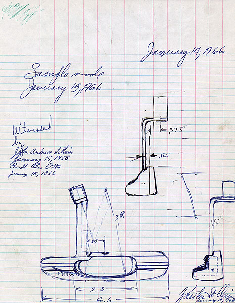 This slightly more formal drawing of the Anser was made in 1966.