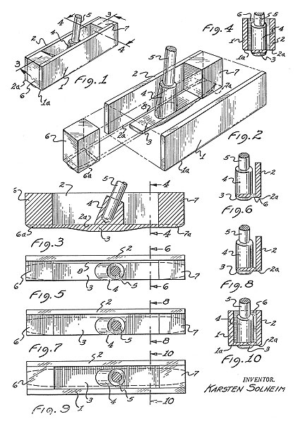 Ping Turns 50                     To mark the 50th anniversary of Ping Golf, the company has released a series of rare images featuring founder Karsten Solheim and some of his early creations.                                          The first club that Solheim designed and sold was the Ping 1A putter. This patent drawing of the clubhead was created in 1959.
