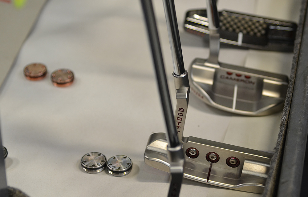 After being polished and painted, these Scotty Cameron putters look like new again.