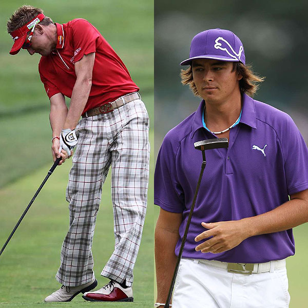 From the start of the U.S. Open, it was clear that strong, wild colors have moved from the fringe to the center of pro golf. Ian Poulter (left) and Rickie Fowler, once on the edge of golf style, have made it trendy to wear pink, plaid, and vivid, punchy colors. Like it or not, their influence was all over the course.
