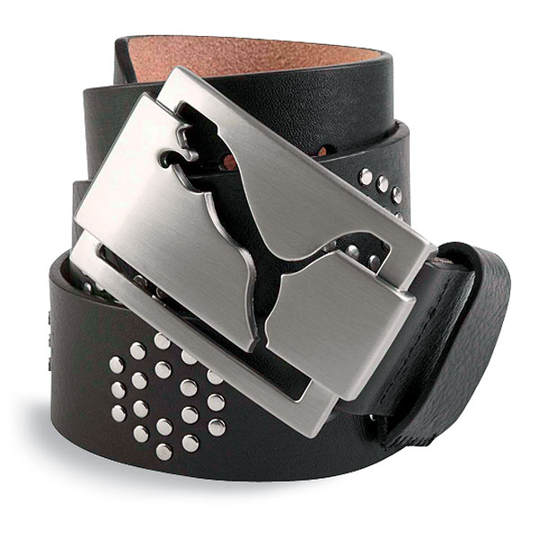 Puma Riveted Belt                       golf.puma.com, $55                       Pros like Anthony Kim and Rory Sabbatini make bold statements on the course with their belt buckles. This belt is more subtle, but with rich genuine leather and brushed silver graphics, it shows the wearer knows quality.