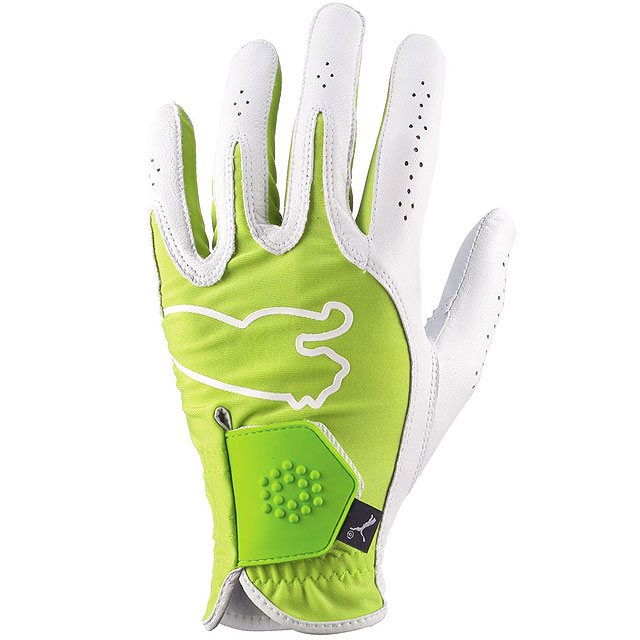 Puma Golf Glove                       $20, trendygolf.com                       How about a lime green golf glove from Puma, to sample a bit of Rickie Fowler's wild style? Made of genuine cabretta leather with a bit of Lycra for stretch on top of the hand and side of fingers.