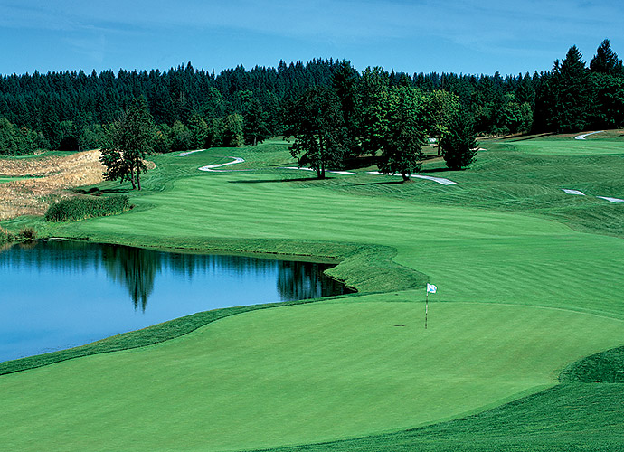 Pumpkin Ridge Golf Club in North Plains, Oregon: Suburban Portland is home to this remarkable 36-hole complex designed by Bob Cupp. The private Witch Hollow is the main course, having hosted Tiger Woods' 1996 U.S. Amateur win, among many other events, but your pumpkin (pie) dessert is Ghost Creek, a tree-framed, wetlands-studded spread that witnessed David Duval winning the 1993 Nike Tour Championship, thanks to a final-round ace at the par-3 3rd.