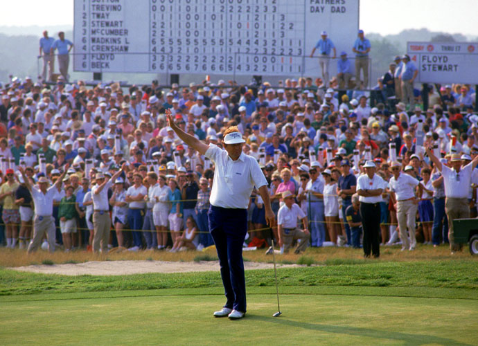 "Raymond Floyd                       ""His short game under pressure was second to none,"" said Top 100 Teacher Bill Moretti. Floyd won four majors: the 1969 and 1972 PGA Championship, the 1976 Masters, and the 1982 U.S. Open at Shinnecock Hills (left)."