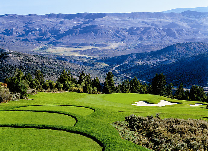 9. Red Sky Golf Club (Norman) in Wolcott, Colo.: Just outside of Vail, the Shark attack arrives in the form of 18 savagely gorgeous holes at a private resort facility with every-other-day public access. Norman's layout soars high into the hills and features panoramic vistas of mountain peaks and ski runs as it traverses dry gulches, hardy scrub and clusters of Alister MacKenzie-style sprawling bunkers.