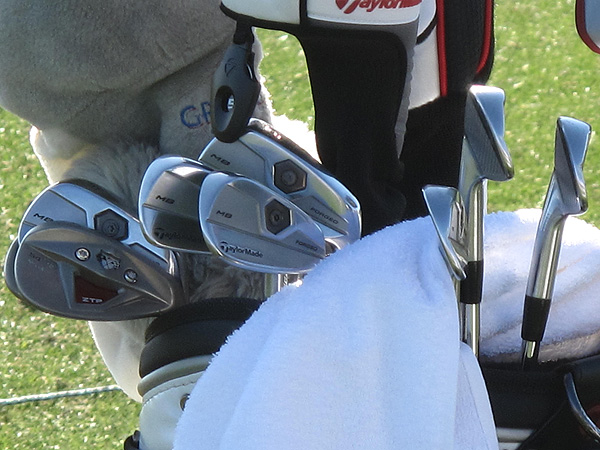 Retief Goosen is using TaylorMade's new Tour Preferred Forged MB irons.