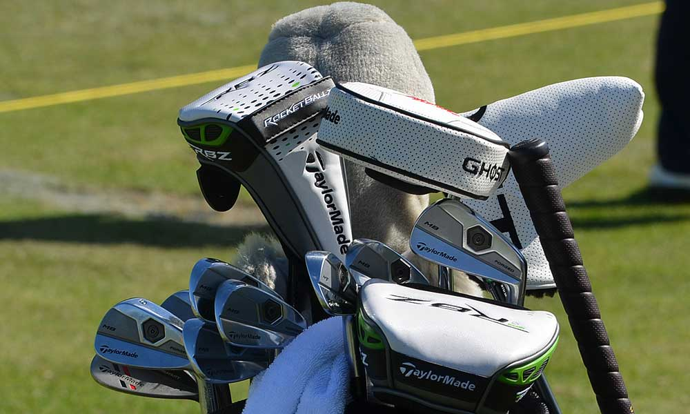Retief Goosen tested some drivers on the range Tuesday, but he's very happy with his TaylorMade Forged MB irons.
