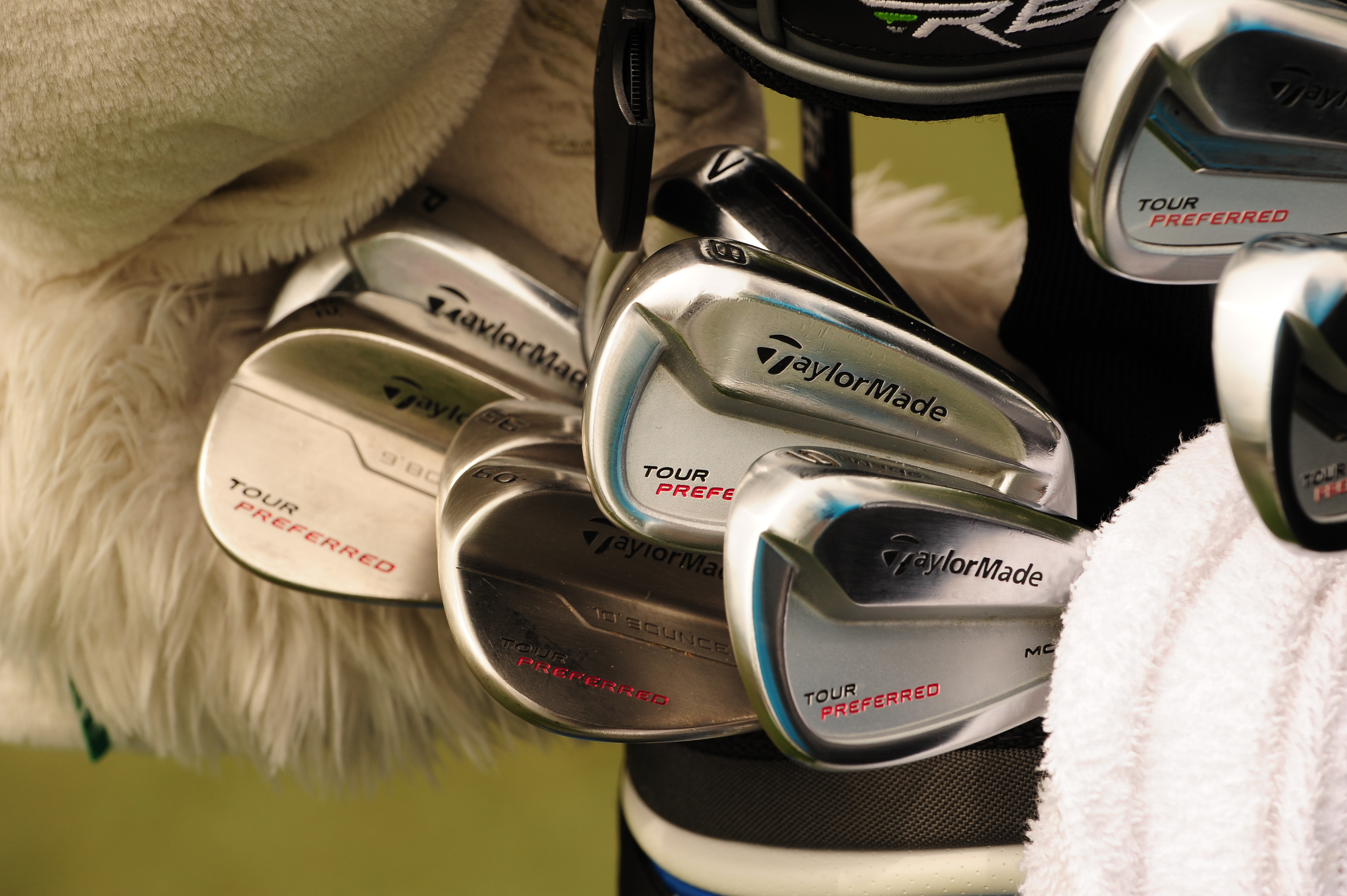 Two-time US Open champ Retief Goosen carries TaylorMade Tour Preferred MC irons, Tour Preferred wedges, and an RBZ fairway wood.