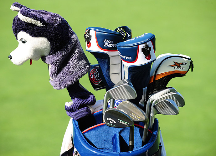 Richard Lee has a husky headcover to honor his alma mater, the University of Washington.