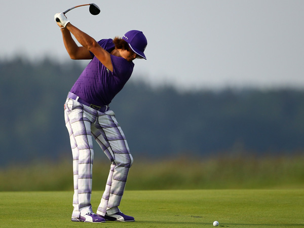 Rickie Fowler is the ice cream man of golf fashion, donning the Baskin-Robbins shock colors of his apparel sponsor, Puma. Sometimes this works, sometimes not, but he's a compelling figure with a big swing and an oversized cap to accommodate that unruly mop of hair.