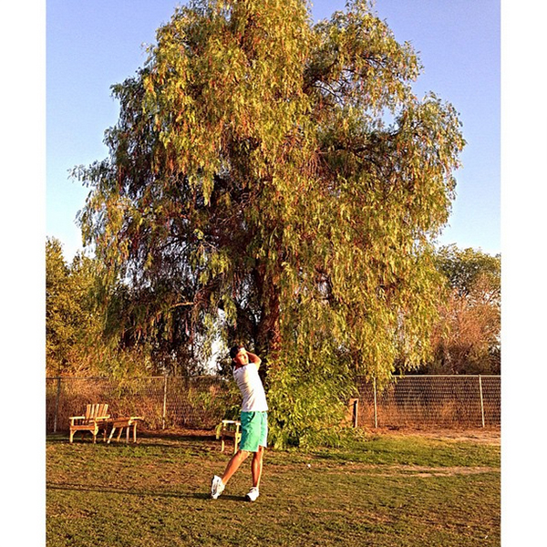 @therealrickiefowler A place that will always be home to me...down by Big B's tree where it all started...so many memories! #MurrietaValleyGolfRange