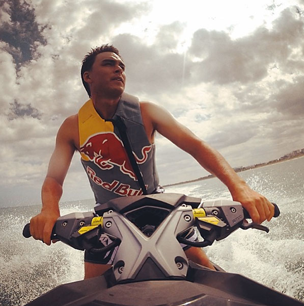 @therealrickiefowler                        It was a great afternoon on the water... @jbthompson43 was catching massive air haha #Bombardier #SeaDoo #RXPX260 @redbull #SundayFunday #SelfieSunday #SunsOutGunsOut #nonononono