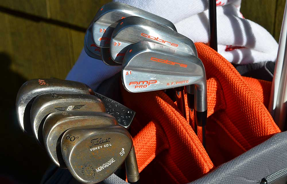 Fowler is using a set of prototype Cobra AMP Blade irons.