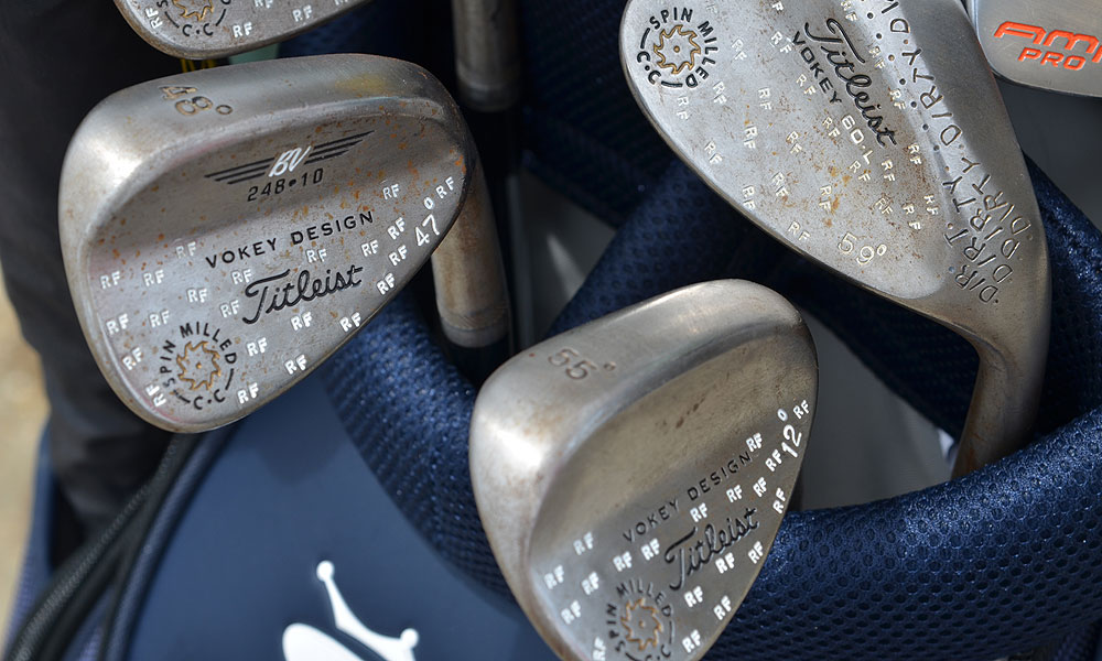 Fowler also plays with Titleist Vokey Design Spin Milled wedges.