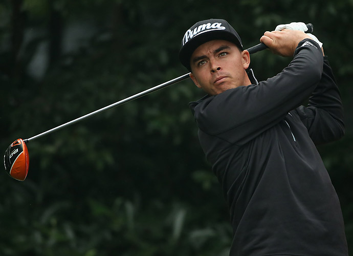 Rickie Fowler is very much still in the hunt heading into the final round. He's three back of McDowell.