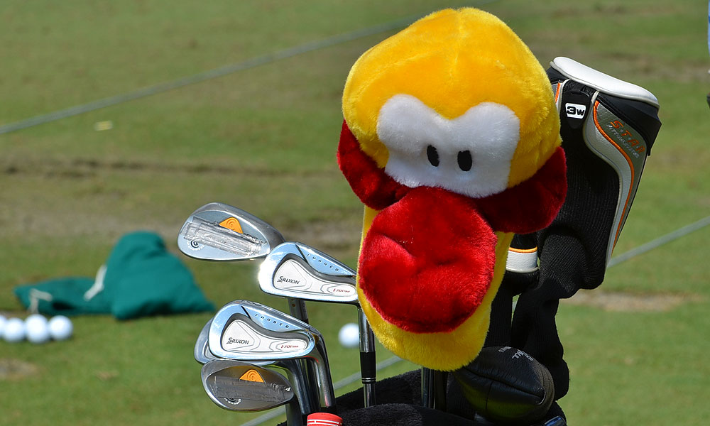 Robert Allenby shows his support for leukemia research by using a Leuk the Duck driver headcover. He plays Srixon Forged I-701 Tour irons and Cleveland CG14 wedges.