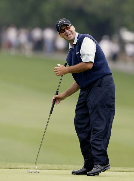 "1991                      Rocco Mediate logged the first PGA Tour victory by a player using an anchored, long-shafted putter when he beat Curtis Strange at Doral in a playoff. ""I was the anti-Christ of putting then,"" Mediate said last year. ""Trust me, I got some interesting comments on that putter."""