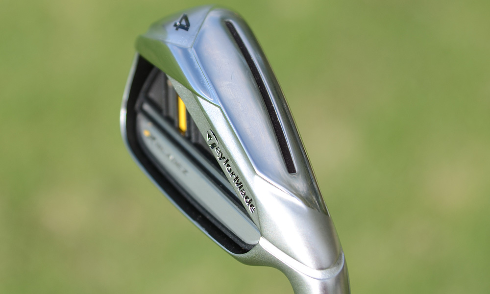 The RocketBladez 3- through 7-irons feature a slot cut into the sole that is designed to help the face flex at impact for more distance.