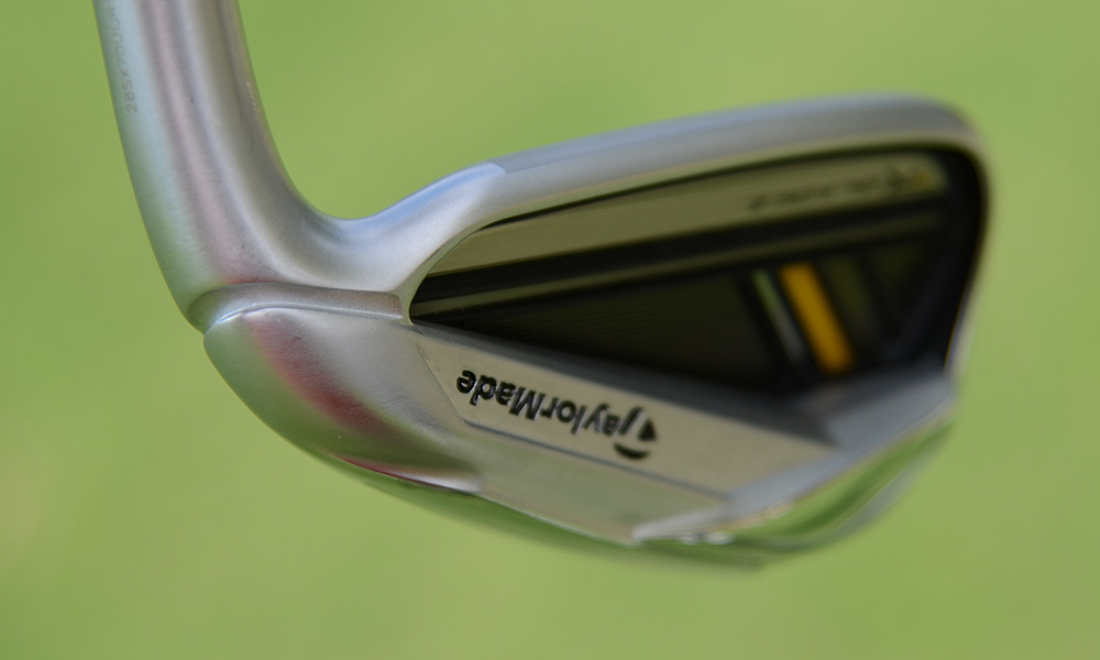 A cavity behind the face of the RocketBladez irons helps to lower the center of gravity and increase forgiveness.