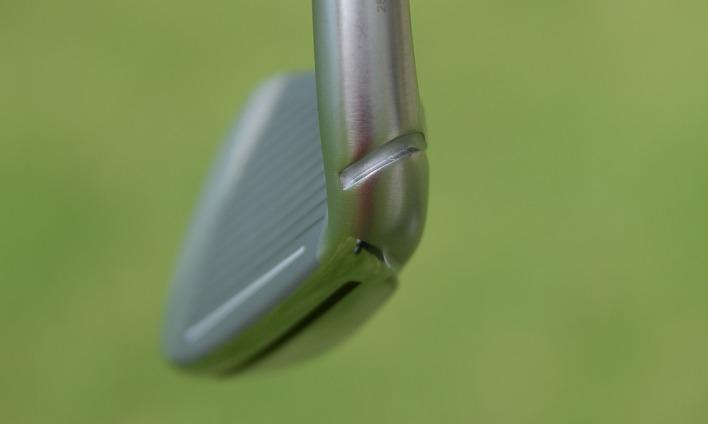 TaylorMade added a notch to the hosel to make it easier for clubfitters to bend the heads to adjust lie angle.
