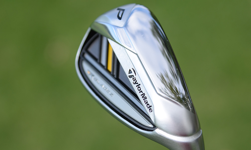There is no cavity in the RocketBladez short irons.